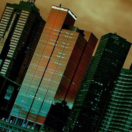 Melbourne_Skyline - Melbourne CBD at night