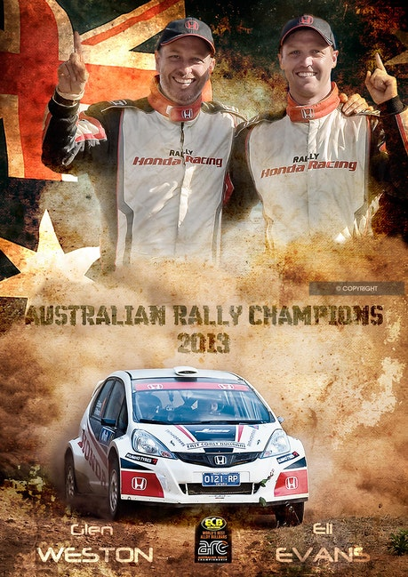 Evans and Weston - Australian Rally Champions Eli Evans and Glen Weston.