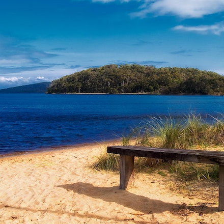 At Walpole Inlet - Fishermans rest come work bench.