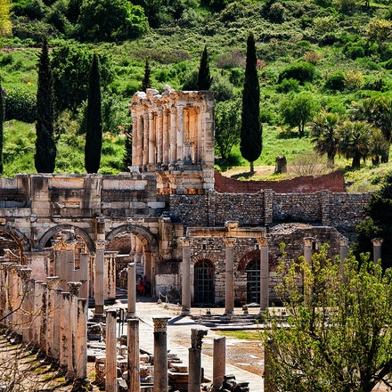 The Library of Celsus - The Library of Celsus 2nd Century AD. Situated in the Greek and Roman city of Ephesus, an unbelievable trip through ancient history....