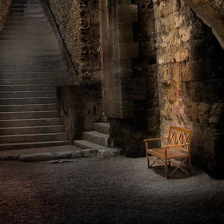 Roman Theatre Bench_01 - An historic Roman Ampitheatre in Orange, Provence, France.