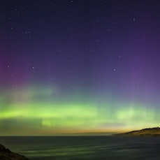 Under Night Skies - Stars, moon and the Aurora Australis.