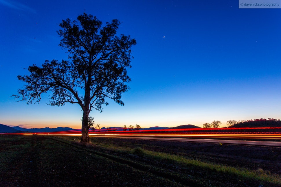 Stars and Light Trails 2, Scenic Rim, QLD - I went out for an overnight trip 02-03 Oct 13 to the Scenic Rim to specifically get some night shots away from...