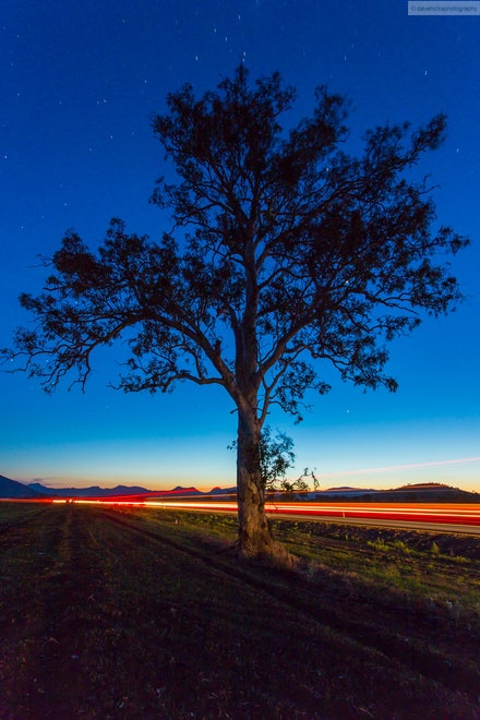 Stars and Light Trails 3, Scenic Rim, QLD - I went out for an overnight trip 02-03 Oct 13 to the Scenic Rim to specifically get some night shots away from...