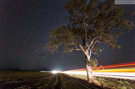 Stars and Light Trails 4, Scenic Rim, QLD - I went out for an overnight trip 02-03 Oct 13 to the Scenic Rim to specifically get some night shots away from...