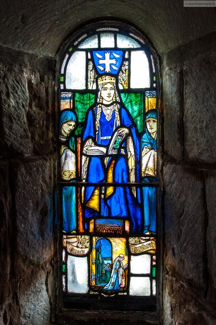 Stained Glass Window - St. Margaret's Chapel, Edinburgh - I was fortunate enough to be selected in an ADF contingent to perform at the 2012 Royal Edinburgh...