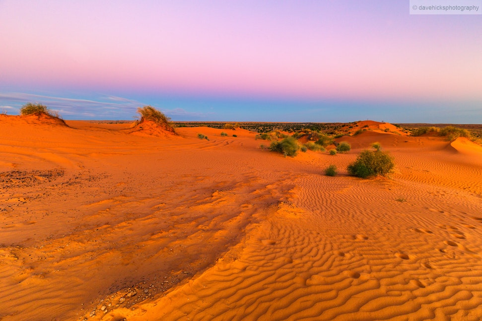 Reverse sunset from 'Big Red' sand dune, QLD