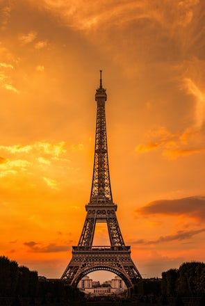 Eiffel Tower, Sunset Love