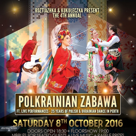 4th Annual Polkrainian Zabawa 2016, Cracovia Club - Kukuleczka & Roztiazhka present the 4th Annual Polkrainian Zabawa 2016, 8 October 2016 at Cracovia...