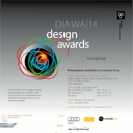 2014 DIA WA Design Awards, State Theatre Centre, 14 November 2014 - The 2014 DIA (WA) Awards Presentation was held in the grand Heath Ledger Theatre at...