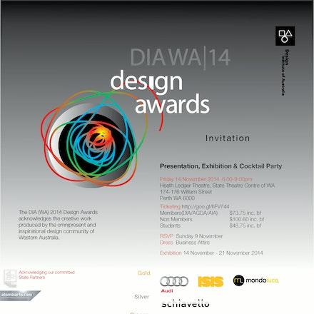 2014 DIA WA Design Awards, State Theatre Centre, 14 November 2014 - The 2014 DIA (WA) Awards Presentation was held in the grand Heath Ledger Theatre at...