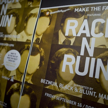 Boomtick pres. Make the Face feat RackNRuin, Ambar, 16 September 2011 - RackNRuin is the most exciting figure in the London bass scene – it's only fitting...