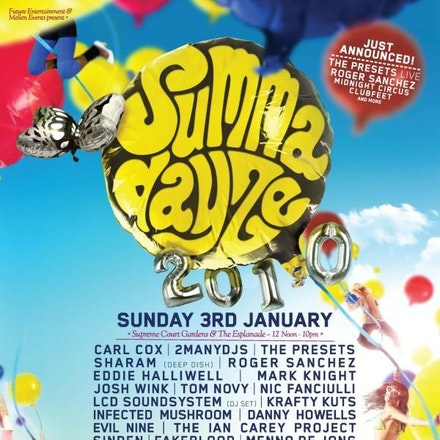 Summadayze 2010, Esplanade and Supreme Court Gardens, 3 January 2010 - Following on from the recent release of the SD 2011 line-up, here's a flashback...