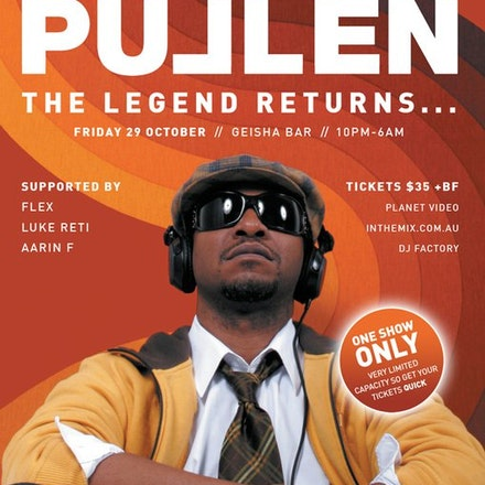 Stacey Pullen, Geisha, 29 October 2010 - The Legend Returns! The master and one of the pioneers of house, Stacey has forged a solid reputation for his...