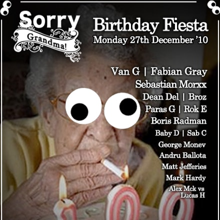 Birthday Fiesta, Sorry Grandma, Melbourne, 27 December 2010 - The Largest Joint Birthday Party to be held at Sorry Grandma on Monday 27th December 2010....