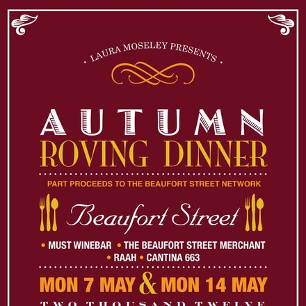 Laura Moseley Presents Autumn Roving Dinner, Beaufort Street Mt Lawley, 14 May 2012 - The Autumn Roving Dinner took place at some of Beaufort Street's...