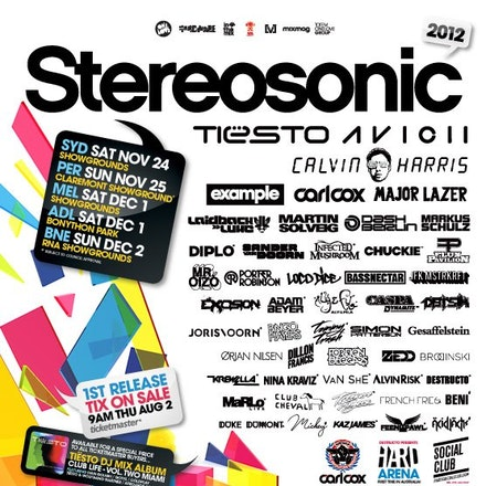 Stereosonic Perth, Claremont Showground, 25 November 2012 - Stereosonic 2012 is back for another tour and to un-officially mark the start of summer by...