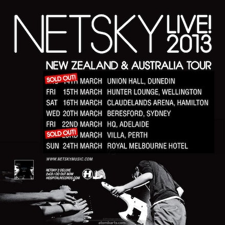 NETSKY: LIVE, Villa, 23 March 2013 - For the first time ever in Australia, NETSKY has brought his full live band on tour for one massive, heaving night...