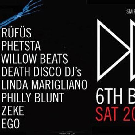 Death Disco 6th Birthday, Capitol Amplifier, 20 July 2013 - Death Disco & Amplifier/Capitol have decided to throw a ridiculously huge party, to celebrate,...