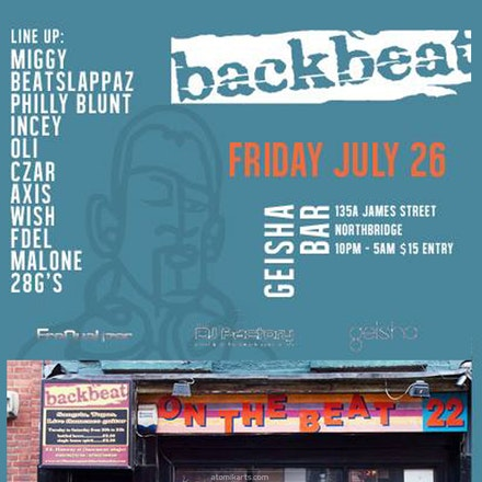back2backbeat - the tribute, Geisha Bar, 26 July 2013 - FreQualizer, DJ Factory & Geisha present 