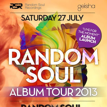 Random Soul (Live) 'Live for the Moment' Album Tour, Geisha Bar, 27 July 2013 - If you loved the sounds of Chuck Love you're going to love Random Soul....