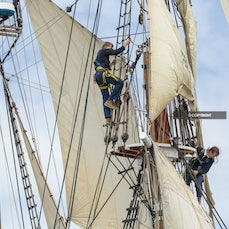 Parade of Sails 2017 - Images from the AWBF 2017, Parade of Sails, where Hobart welcomes visiting boats to the Australian Wooden Boat Festival on the Derwent...