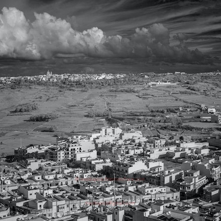 The island of Gozo  - clear air after a squall. - R72 filter on Cosina-Voigtlander 35f1.4 lens on Leica M8.
