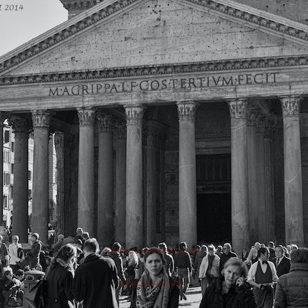 Outside the magnificent Pantheon in Rome. - The Pantheon is a magnificent building with a rich and somewhat complex history.  See https://en.wikipedia.org/wiki/Pantheon,_Rome