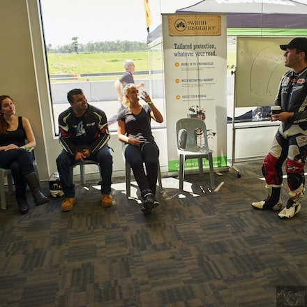 Classroom sessions - motoDNA - The classroom activities held during the motoDNA advanced road rider training day at Sydney Motorsports Park, 23 Nov 2015.