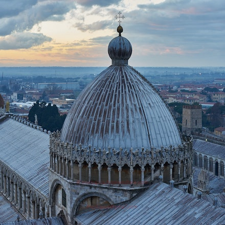 The Cathedral Dome from the Leaning Tower - Pisa