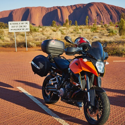 My KTM 990 SMT  at Uluru, Oct 2014 - My KTM 990 SMT*  at Uluru, destination for The Long Ride 2014   (see http://www.the-long-ride-tm--2013.com/whoweare.htm...