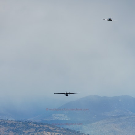 Wirraway and Catalina over Canberra - Warbirds of the Historical Aircraft Restoration Society fly over Canberra