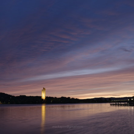 Canberra, pre-dawn lakeside on 15 Dec - Down by the lake on 15 Dec 2015.