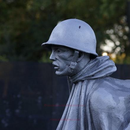 Korean War Memorial - early morning - Washington DC, Photographed Oct 2011