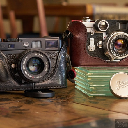 Leica goodness - Leica M9 and 1955 Leica M3 Dual Stroke film camera
