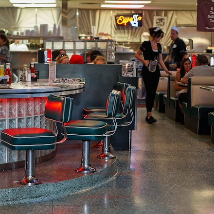 Hollywood Diner - Inside a diner just off Hollywood Boulevard