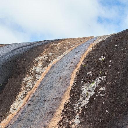 Hyden Rock detail - Lichen and water runoff patterns on Hyden Rock, Hyden, Western Australia.