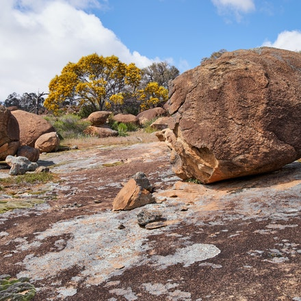 Eroded granite boulders - Erosion causes some fantastic effects on massive granite boulders in this area of Hyden Rock.