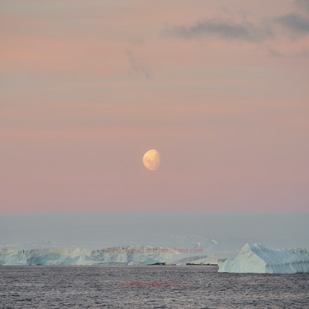 Moonset, Adelaide Island - Moonset over Adelaide Island, Antarctic Peninsula