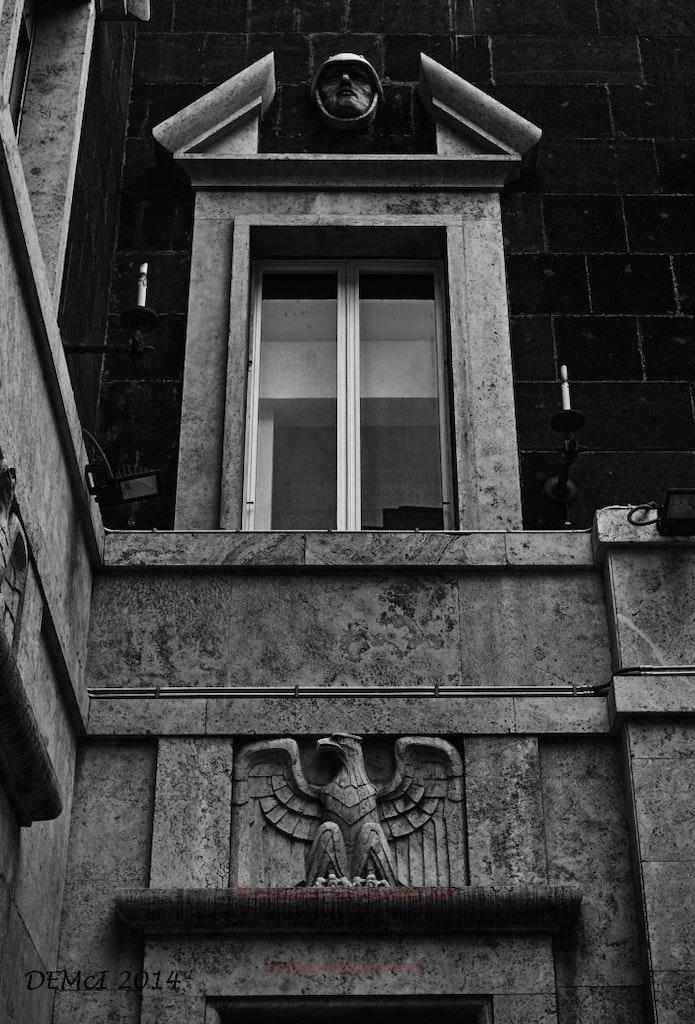 Fascist-era building detail, Rome