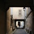 Paris Passageway - Try to figure out why this person is running down the passageway -- works best at 10x15 or less.