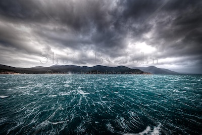 50 Knots - A winter storm blasts out of Refuge Cove, Wilsons Promontory, Victoria.