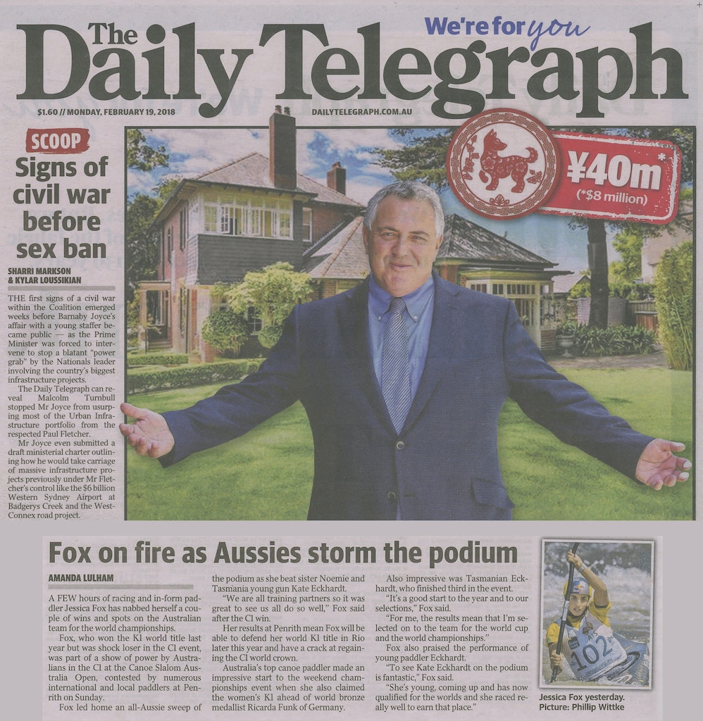 Daily Telegraph - 19 Feb 2018