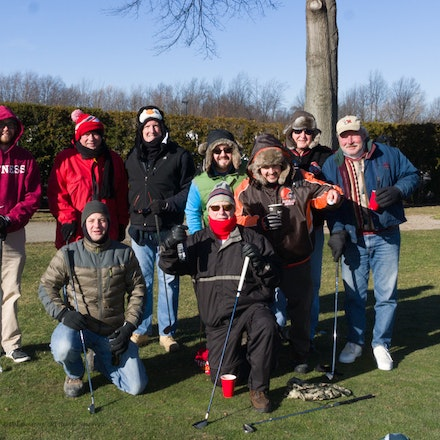 4 Aces 2015 - Avon Oaks, hitting the ball on a very cold 1st of the year.