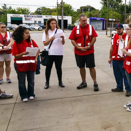 Red Cross - Key Glenville - Fire Walk in Glenville.  Key Bank was the sponsor of the event.