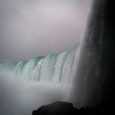 Behind the Falls - Behind Horseshoe Falls at Niagra Falls Canada