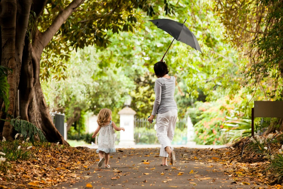 FAMILY - Family,  mother, child, children, portrait, umbrella, photograph, outdoor, mother and child,