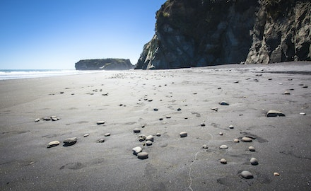 Just pebbles - I loved to emptiness of this beach. Just the pebbles and me.