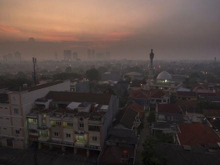 And so they awake - Sunrise over sleepy Jakarta