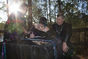wedding ~ Travis & Kate - Walkabout Creek Handfasting